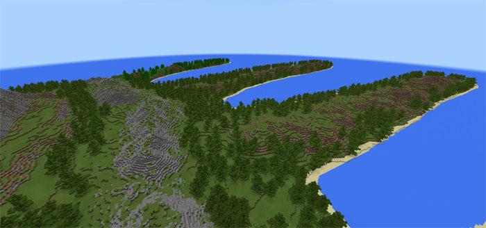 Minecraft Hand Island Haritası