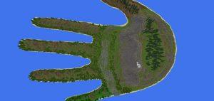 MCPE Hand Island Haritası