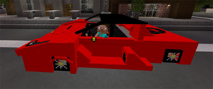 Ferrari addon mcpe