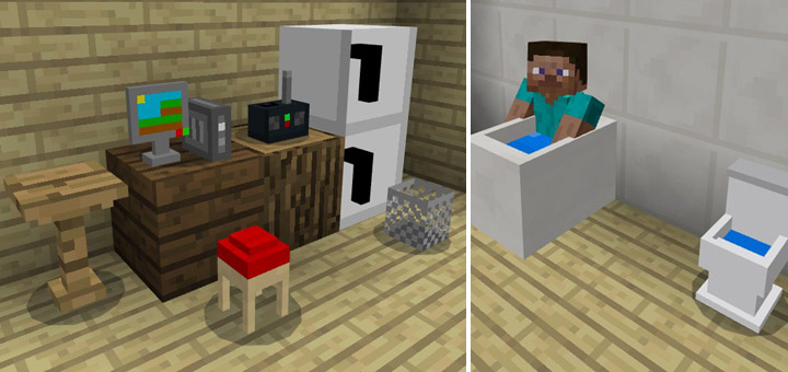 Mcpe Furniture Mod Mcpe Mekani