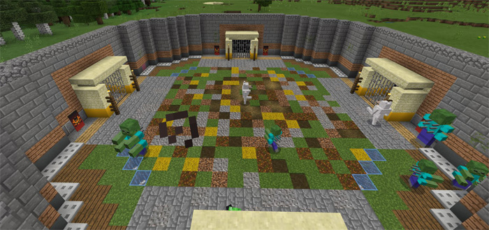 The Monster Arena Minigame PvP Map