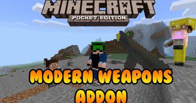 Modern Weapons Addon – Minecraft 1.2 (MCPE)